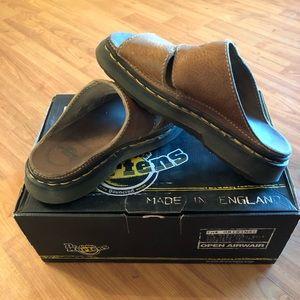 Dr Marten mule sandals, tan color ladies size 8
